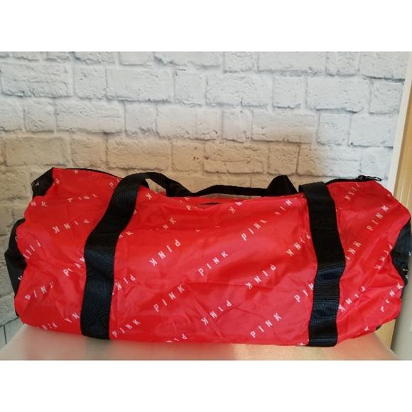 Victoria s Secret PINK Red Packable Duffle Bag NEW 55e120b7610d7